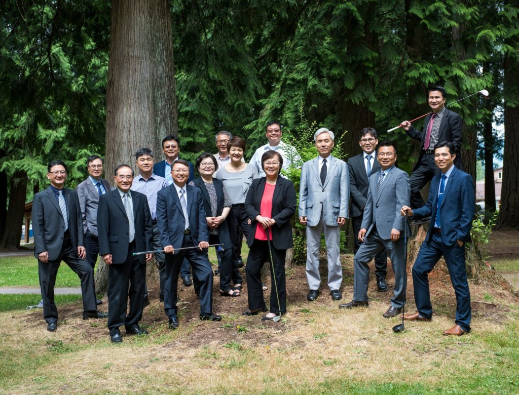 Korean Canadian Professional Accountants Society of BC pose for a photo at Blue Mountain Park in Coquitlam, BC, on July 21, 2017. Photo by Jimmy Jeong